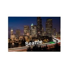 Seattle_2x3_magnet_DowntownSeattl Rectangle Magnet