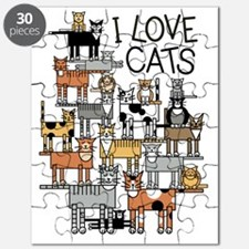 I Love Cats for Light Colors Puzzle