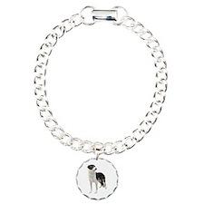 Funny Border collie Charm Bracelet, One Charm