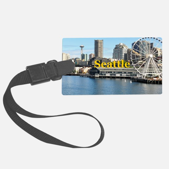 Seattle_5x3rect_sticker_SeatterW Luggage Tag