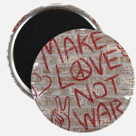 Make Love Not War Magnet
