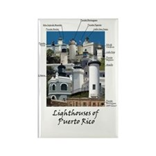 Lighthouses of Puerto Rico Rectangle Magnet