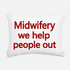 Midwifery, we help peopl Rectangular Canvas Pillow