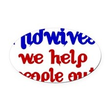 Midwives Oval Car Magnet
