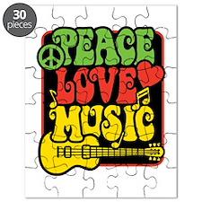Rasta Peace Love Music Puzzle