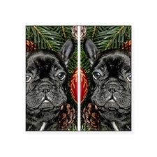 "french bulldog flip flops Square Sticker 3"" x 3"""