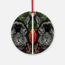 french bulldog flip flops Round Ornament