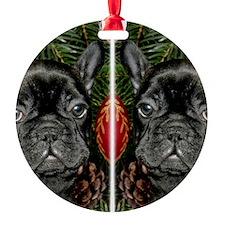 french bulldog flip flops Ornament