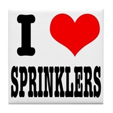 I Heart (Love) Sprinklers Tile Coaster