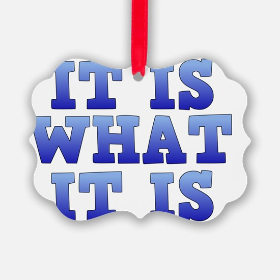 It is what it is Ornament