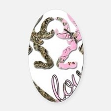 country love Oval Car Magnet