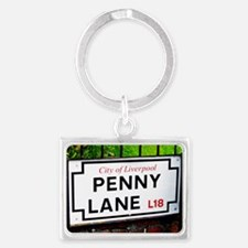 penny lane, liverpool sign Landscape Keychain