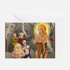 FREYA Amber Goddess Greeting Card