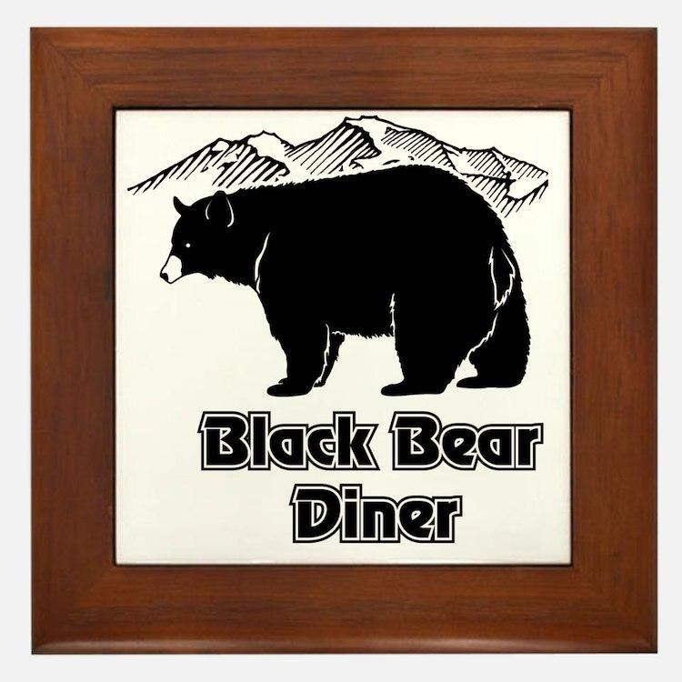 Black Bear Logo Framed Tile