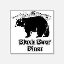 "Black Bear Logo Square Sticker 3"" x 3"""