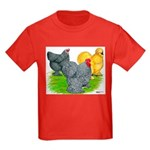 Feather-legged Bantams Kids Dark T-Shirt