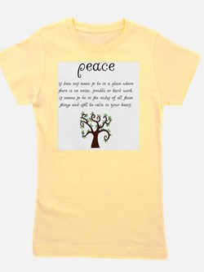 Peace Mantra Girl's Tee