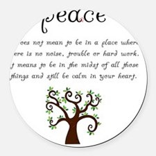 Peace Mantra Round Car Magnet
