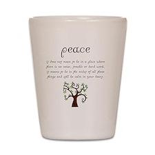 Peace Mantra Shot Glass