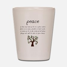 Peace Mantra Shot Glass