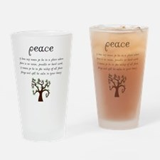 Peace Mantra Drinking Glass