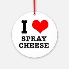 I Heart (Love) Spray Cheese Ornament (Round)