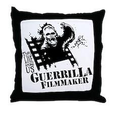 Guerrilla Filmmaker Throw Pillow