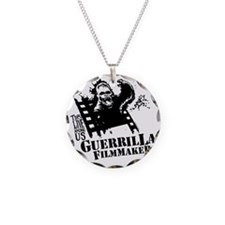 Guerrilla Filmmaker Necklace Circle Charm