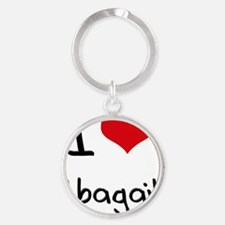 I Love Abagail Round Keychain