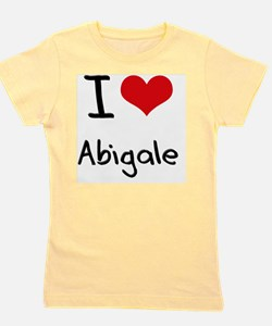 I Love Abigale Girl's Tee