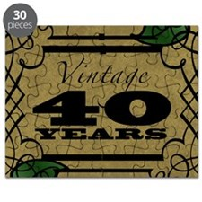 Vintage 40th Birthday (Gold) Puzzle
