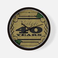 Vintage 40th Birthday (Gold) Wall Clock