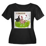 Cornish Trio Women's Plus Size Scoop Neck Dark T-S