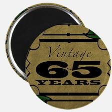 Vintage 65th Birthday (Gold) Magnet