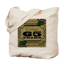 Vintage 65th Birthday (Gold) Tote Bag