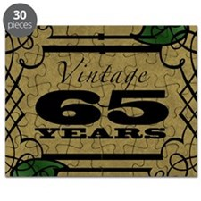 Vintage 65th Birthday (Gold) Puzzle