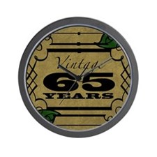 Vintage 65th Birthday (Gold) Wall Clock