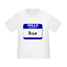 hello my name is rae T