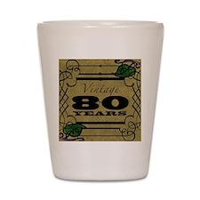 Vintage 80th Birthday (Gold) Shot Glass