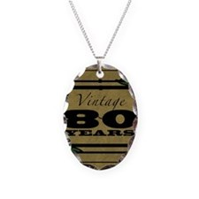 Vintage 80th Birthday (Gold) Necklace