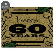 Vintage 60th Birthday (Gold) Puzzle