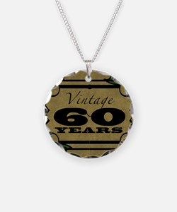 Vintage 60th Birthday (Gold) Necklace