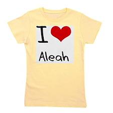 I Love Aleah Girl's Tee
