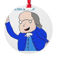 Ben Franklin Says Ornament