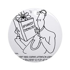 Pop-Up Text Books Round Ornament