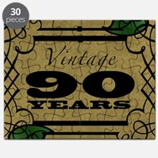 Vintage 90th Birthday (Gold) Puzzle
