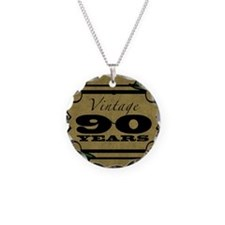 Vintage 90th Birthday (Gold) Necklace
