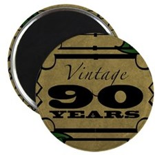 Vintage 90th Birthday (Gold) Magnet