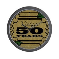 Vintage 50th Birthday (Gold) Wall Clock