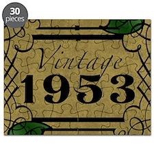 1953 Vintage Framed Puzzle